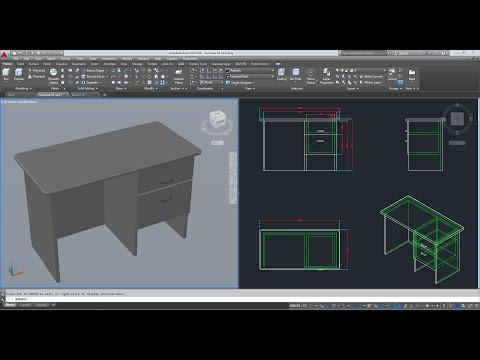 สอนสร้าง furniture 3d AutoCAD 2016