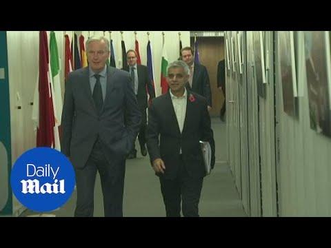 Sadiq Khan meets the EU's chief Brexit negotiator in Brussels