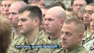Family, friends gather to send off Army National Guard soldiers