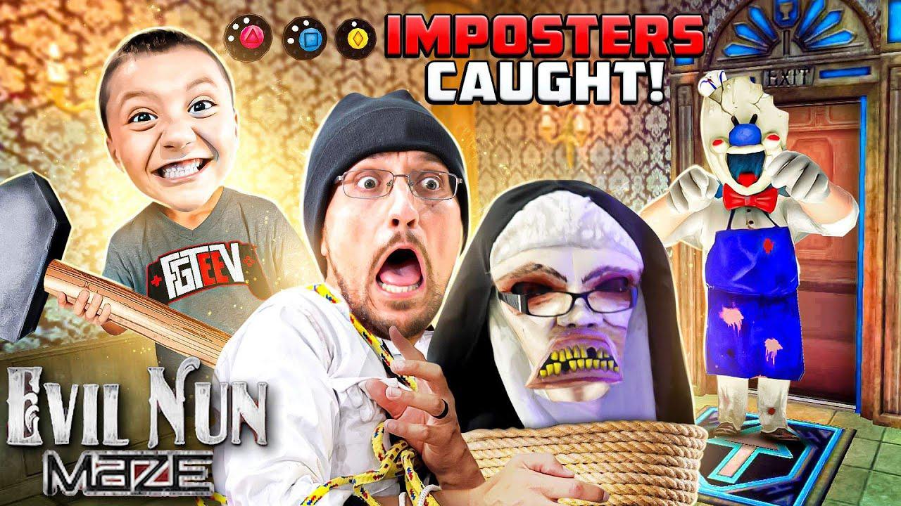 Download EVIL NUN & ICE SCREAM Impostors CAUGHT during MAZE Game! (FGTeeV Evil Nun Maze Gameplay/Skit)
