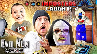 EVIL NUN &amp ICE SCREAM Impostors CAUGHT during MAZE Game! (FGTeeV Evil Nun Maze GameplaySkit)