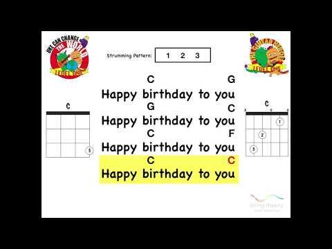 Happy Birthday (Play-Along Guitar / Ukulele)