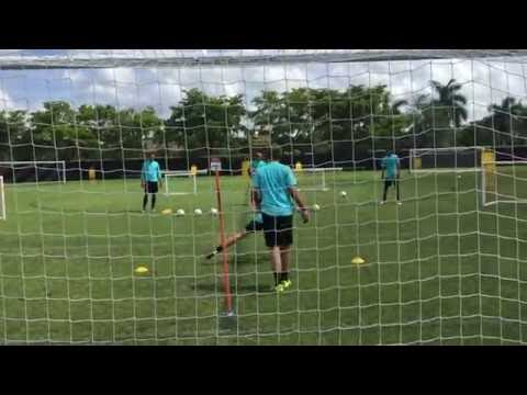 Goalkeeper Training Incorporating Diving and Distribution, Andrew Sparkes, Swansea City FC