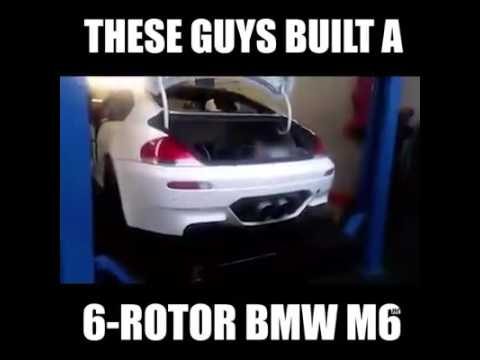 These Guys Built 6 Rotor Bmw Echt Geiler Sound Hat Der Bmw Youtube