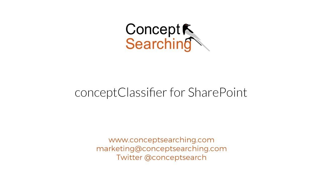 conceptClassifier for SharePoint - Concept Searching