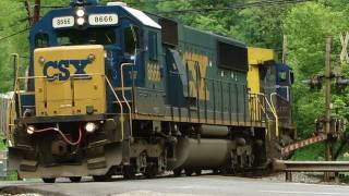CSX 8666 & 434 Rescue Broken Down 8129