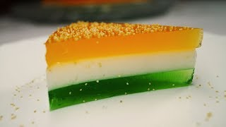 Cocktail China Grass Pudding - Independence Day Special Recipe (Agar Agar Pudding)