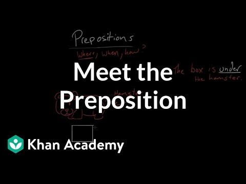 Meet the preposition | The parts of speech | Grammar | Khan Academy