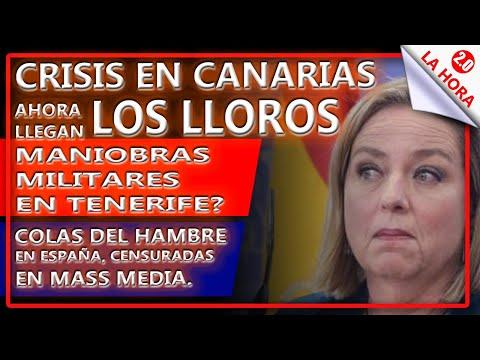 CRISIS EN CANARIAS: AHORA LLEGAN LOS LLOROS - COLAS DEL HAMBRE