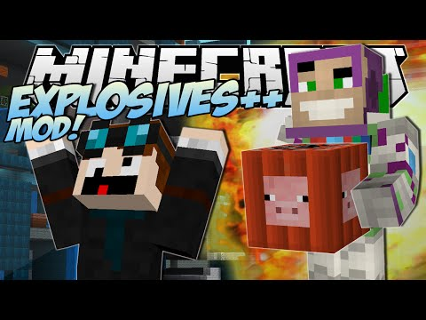 Minecraft | EXPLOSIVES ++ MOD! (The Greatest TNT EVER!!) | Mod Showcase