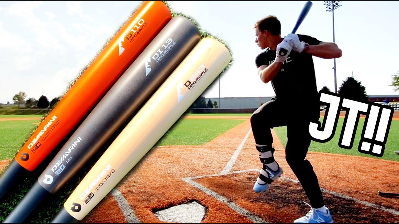 Hitting with DEMARINI WOOD COMPOSITE 110/i13/243 - Wood Baseball Bat Reviews