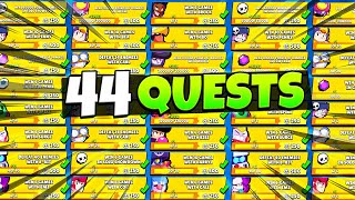 Completing All 44 Brawl Pass Quests AT ONCE! (most ever?)