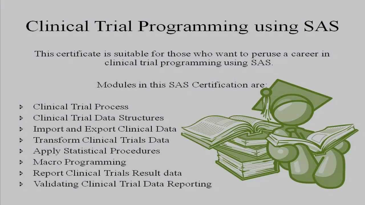 How to get Certified in Clinical Trial Programming using SAS - YouTube
