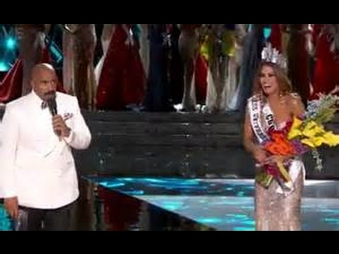 Steve Harvey Crowns Colombia wrong Miss Universe 2015 Breaking News December 21 2015