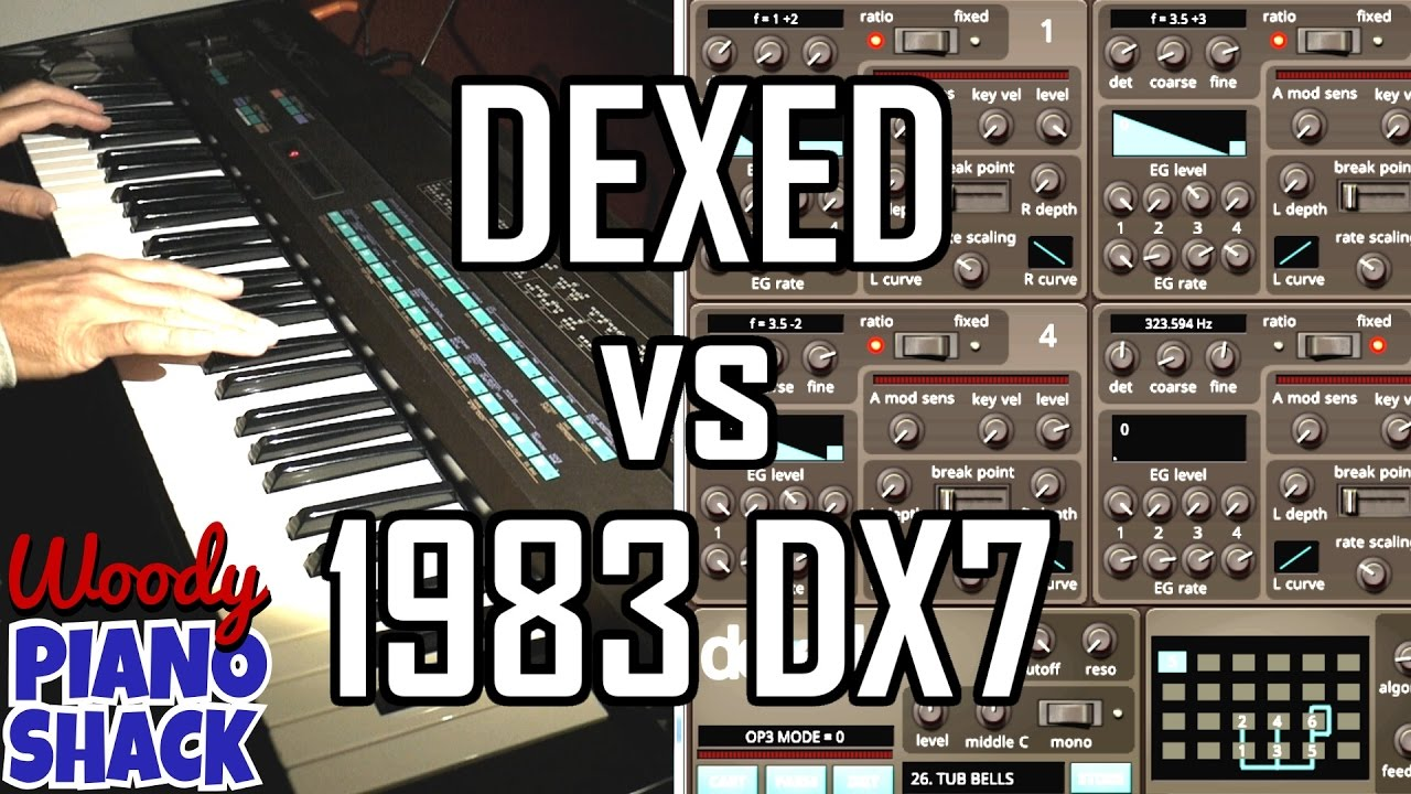 Dexed VST versus 1983 Yamaha DX7 | Orgy of 80's riffs and over-used presets