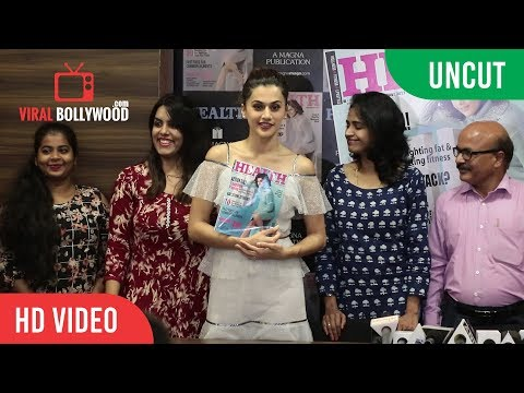 UNCUT - HEALTH and NUTRITION Magazine Launch | Taapsee Pannu