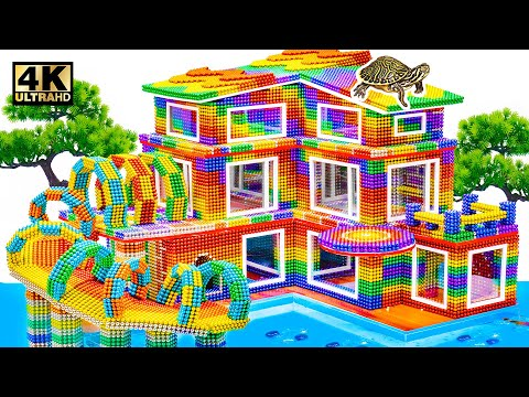 Water Slides Park and Swimming Pools In Three Floors House Design For Turtle From Magnetic Balls