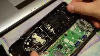 видео радио телефон  panasonic разборка и попытка помнять дисплей