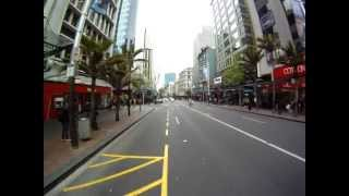 Auckland city with Bamboocycle and GoPro