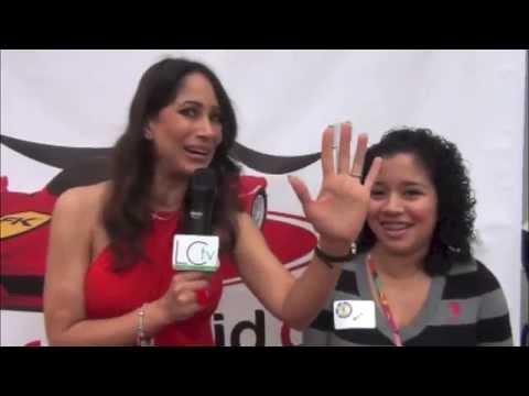 Rita Verreos interviews children @ the Ferrari Kid Red Carpet for Latin Connection TV