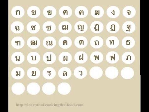 Thai Alphabet Chart YouTube 360p - YouTube