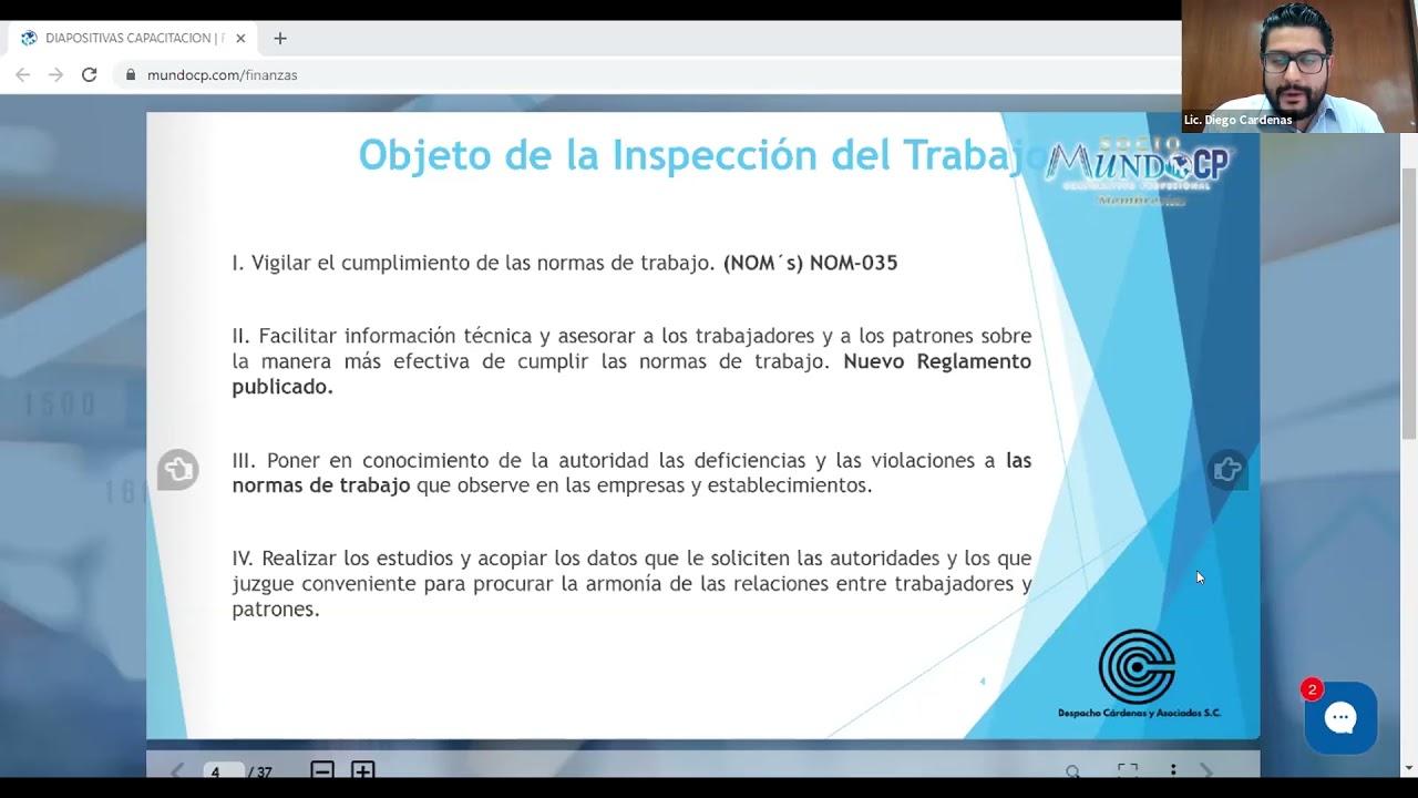 INSPECCIONES LABORALES EN LOS CENTROS DE TRABAJO STPS-IMSS Y SSA