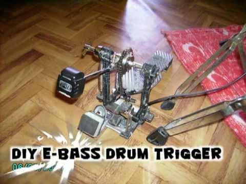 diy e bass drum trigger test 1 youtube. Black Bedroom Furniture Sets. Home Design Ideas