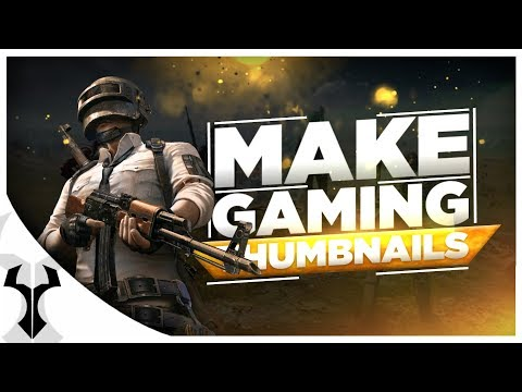 How To Make Pubg Themed Gaming Thumbnails On Android // Gaming Thumbnail Tutorial // Yuvrajz