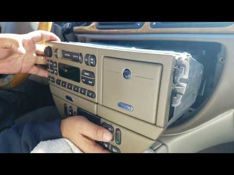 How to Remove Radio / Cassette from Jaguar S type 2001 for Repair.