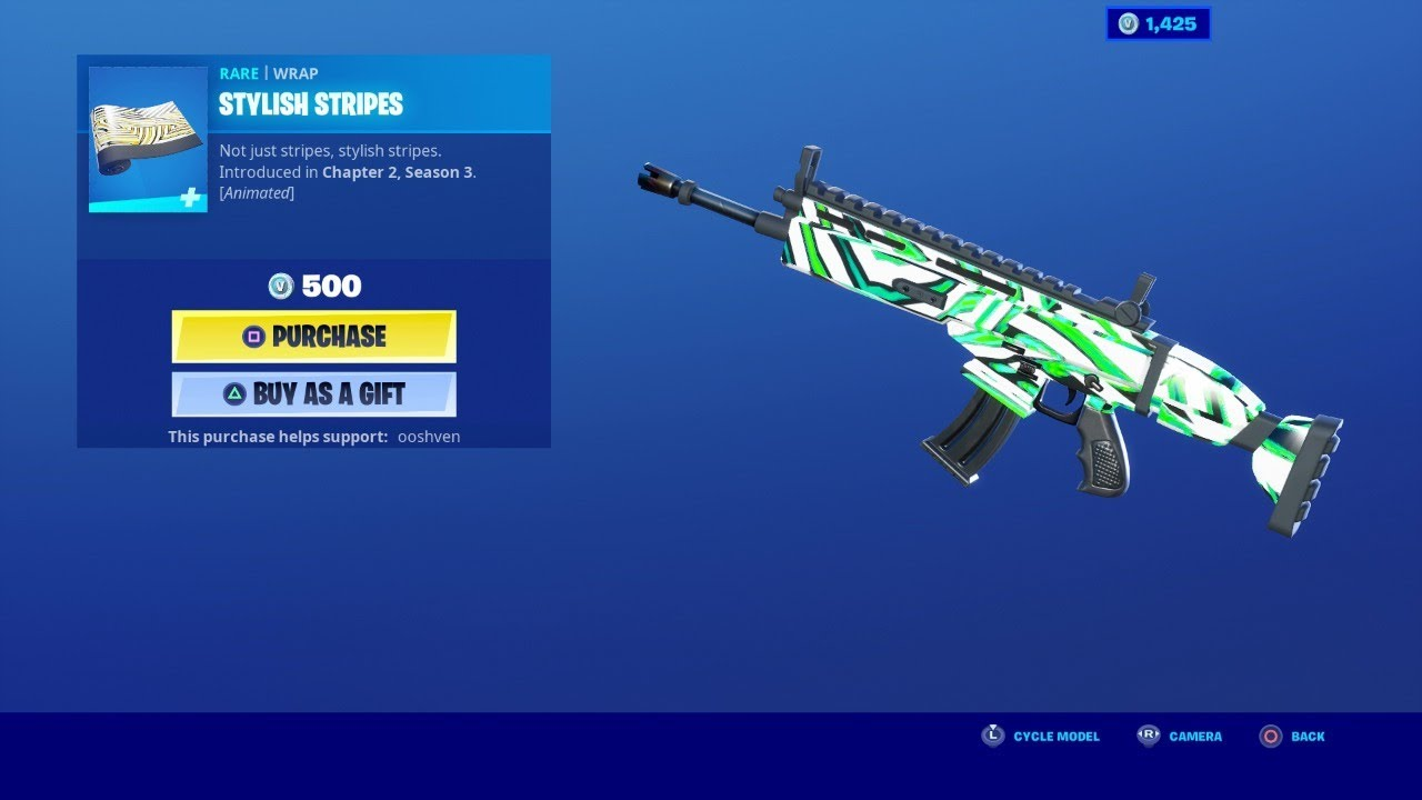 STYLISH STRIPES WRAP *NEW* FORTNITE ITEM SHOP UPDATE NOW AUGUST 3 2020 (fortnite item shop today)