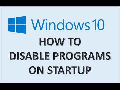 Computer Fundamentals - How To Disable Programs Running On Startup