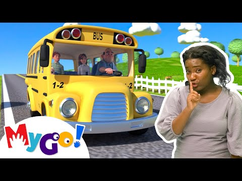 Wheels on the Bus | Sign Language For Kids | CoComelon | ASL