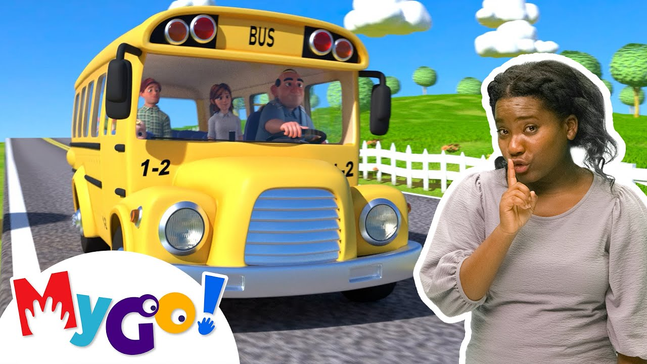 Download Wheels on the Bus   MyGo! Sign Language For Kids   CoComelon - Nursery Rhymes   ASL