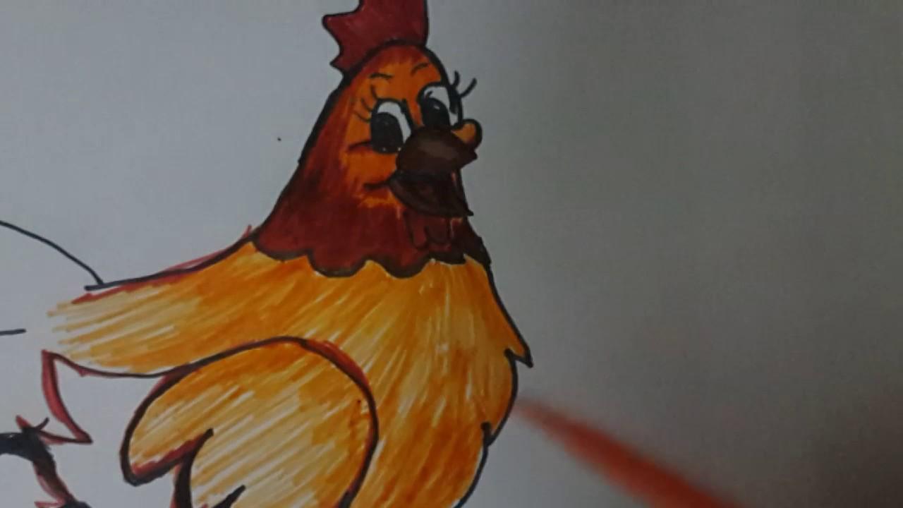 Tavuk Boyamaçocuklar Için Chicken Paint For Kids Youtube