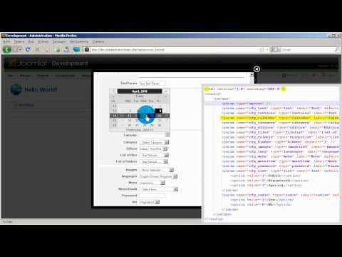 Создание компонентов Joomla - 4 - Параметры XML