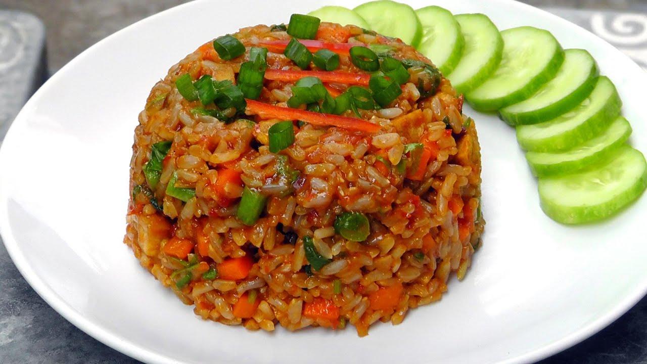 Indonesian Nasi Goreng Fried Rice Vegan Vegetarian