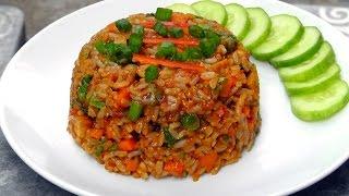Indonesian Nasi Goreng - Fried Rice - Vegan Vegetarian Recipe