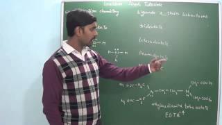 2.2 Ligands & Their behaviour (Coordination chemistry)