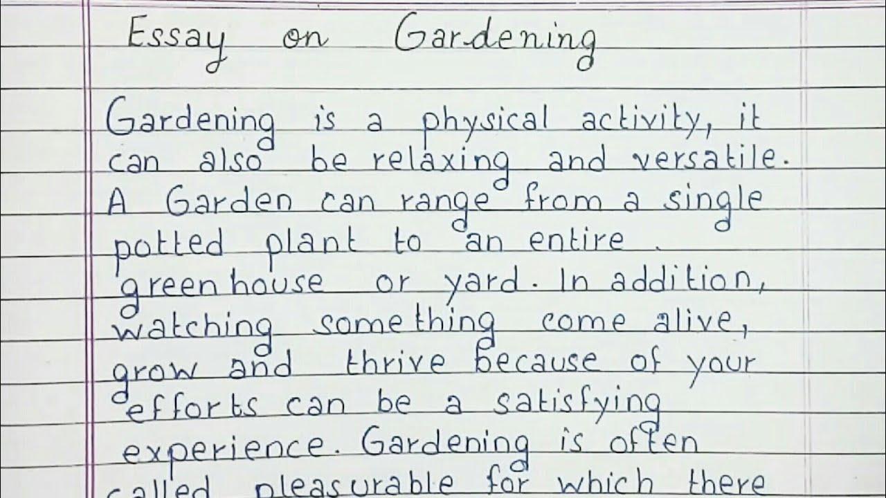 Gardening essay writing nra civil rights defense essay