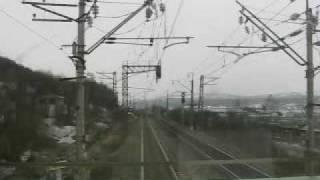 Из кабины электровоза ЭП1М(Видео из кабины пассажирского электровоза ЭП1М., 2009-07-03T09:31:07.000Z)