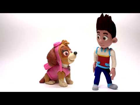 Ryder Skye Paw Patrol * Stop motion animation Play Doh for toddlers