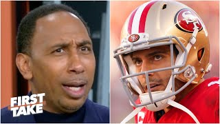 Stephen A. isn't impressed with Jimmy Garoppolo's win vs. the Rams | First Take