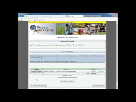 How to Renew a Feed or Fertilizer License Online