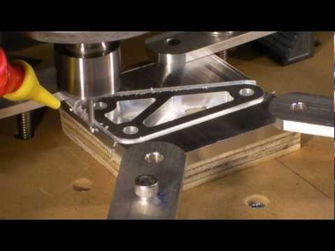 Homemade DIY CNC Series - 1/4 Thick Aluminum Test Bracket - Neo7CNCm