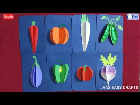 DIY 3D Vegetables with paper