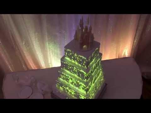 disney projection mapped wedding cake youtube. Black Bedroom Furniture Sets. Home Design Ideas