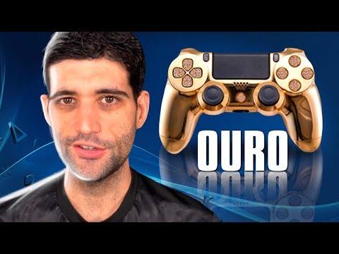 Controle de PS4 de ouro e diamante, presente de Fortnite e Playstation 5