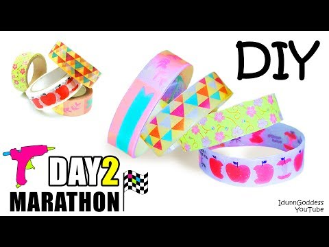 Thumbnail: DIY Bracelets Out Of Hot Glue And Washi Tape - DAY 2 of 7-Day Marathon Of Glue Gun DIYs