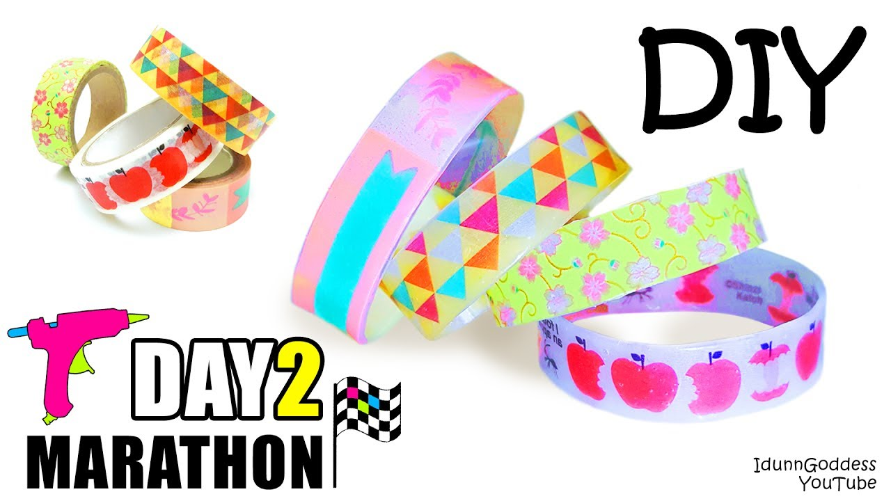 Diy Bracelets Out Of Hot Glue And Washi Tape Day 2 Of 7 Day