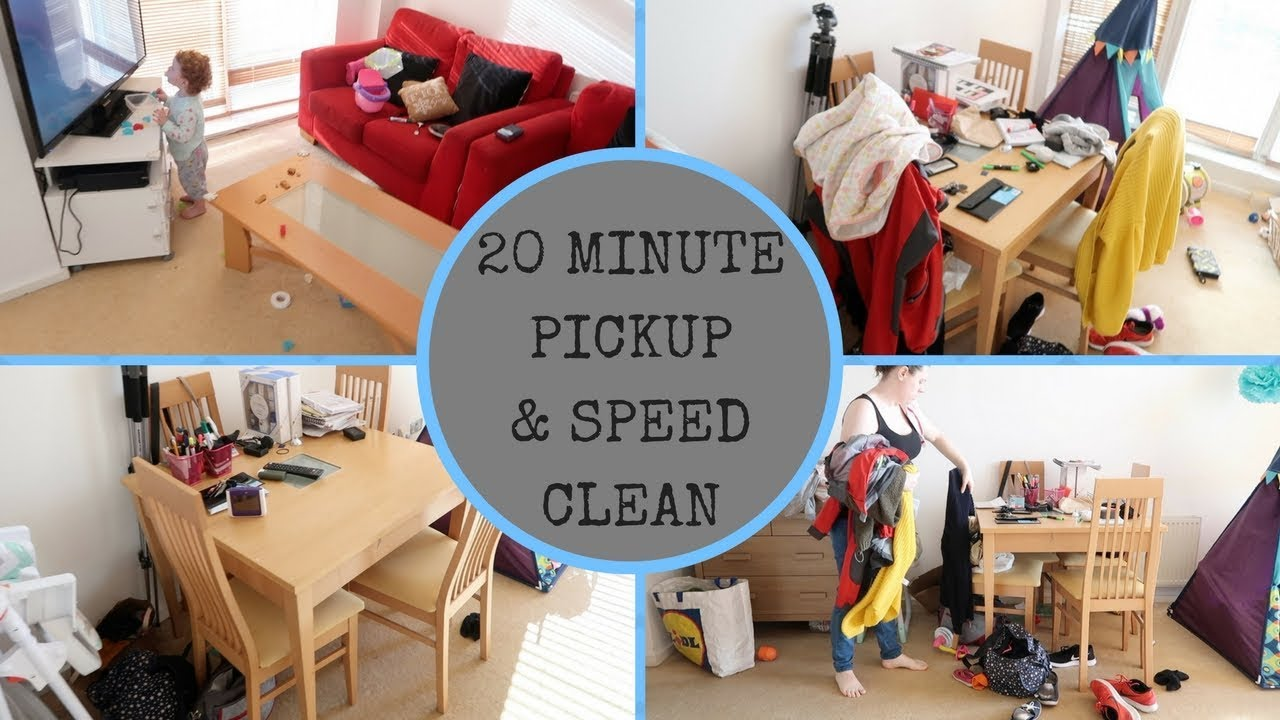 CLEANING MY APARTMENT IN 20 MINUTES || PICKUP & SPEED CLEANING - YouTube